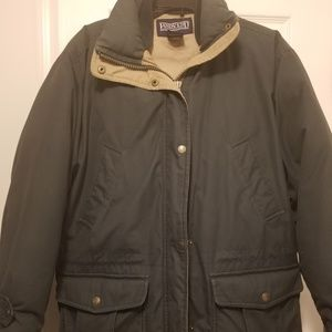 Forest Green Down Coat